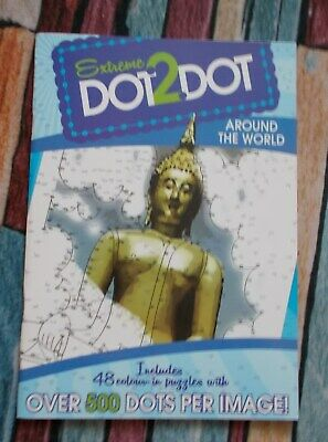 Adults / Kids DOT to DOT Book - Around the World Extreme Book - New