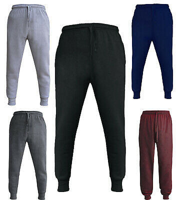 Unisex Childrens Kids School Tracksuit Bottoms PE Fleece Jogging Zip Pockets