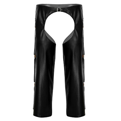Herren Leggings Lack-Optik Strumpfhosen Wetlook Hosen OuvertPants Unterwäsche