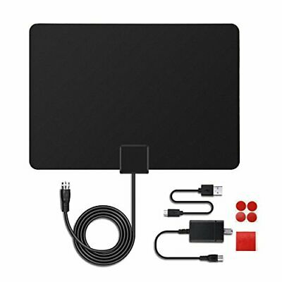 Meco antenna tv interna hdtv amplificata 50 miglia potente digitale con (odP)