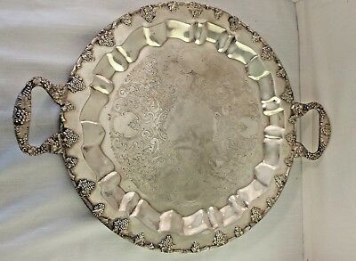 "FEDERAL SILVER CO. SILVERPLATE on COPPER BUTLERS 19"" TRAY ANTIQUE/VINTAGE"