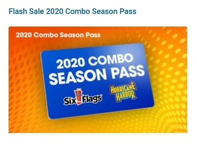 2020 Combo Season Pass to Six Flags