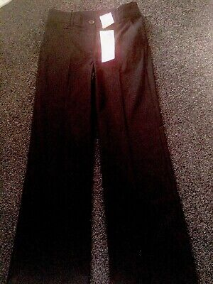 Marks And Spencer Girls Black School Trousers Aged 10 Years BNWT