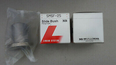 Nippon Japan SMSF-25 25mm Slide Bush Bushings Motion Linear Bearings Flange Type