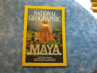 NATIONAL GEOGRAPHIC August 2007 MAYA How a Great Culture Rose and Fell NARWHALS