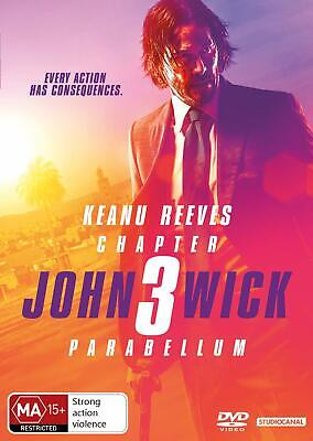 JOHN WICK: CHAPTER 3 - PARABELLUM (2019): Keanu Reeves -  NEW Au Rg4 DVD