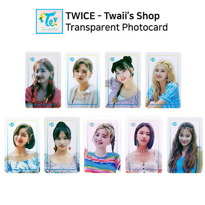TWICE - POP UP STORE Twaii's Shop Official Transparent Photocard