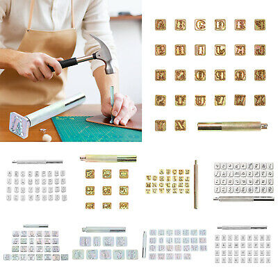 Letter Alphabet Numbers Stamps Set Punch Steel Metal Wood Leather Crafts Tools