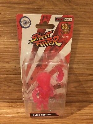 The Loyal Subjects Street Fighter Ken Super Double Diamond Club Clear Red Varian