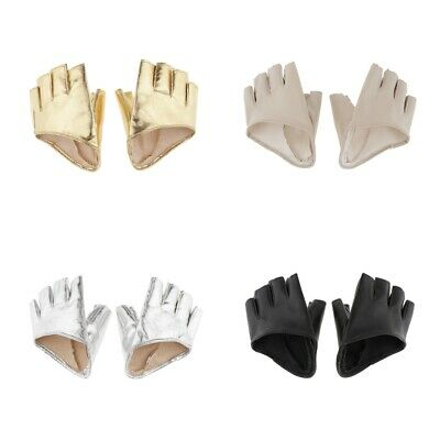 Women PU Leather Half Finger Gloves Fingerless for Driving Pole Dancing Show