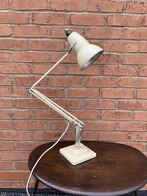Vintage Early Original Herbert Terry Anglepoise lamp Off White Original finish