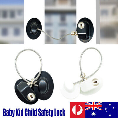1x Baby Kid Safety Lock Proof Cabinet Window Fridge Cupboard Door Drawer Child