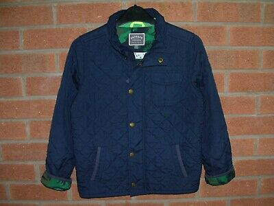 FAT FACE Boys Navy Blue Quilted Jacket Coat Age 8-9 134cm