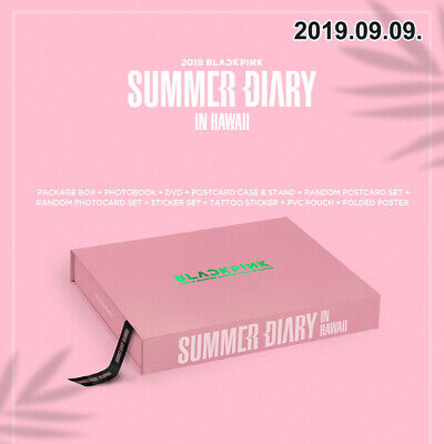 2019 BLACKPINK'S SUMMER DIARY IN HAWAII DVD+P.Book+Photocard+Poster+Post+etc+GIF