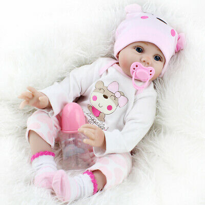 Reborn Baby Girl Dolls Simulated Cute Soft Touch Lifelike Silicone Toy Xmas Gift
