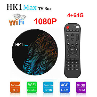 Android 9.0 HK1MAX 1080P Mini TV BOX 4+64G RK3318 HDMI USB2.0 USB3.0 TV Receiver