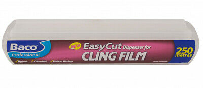 2 x Bacofoil Easycut Catering Dispenser Clingfilm 250mtr