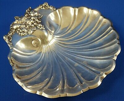 """Reed & Barton Silverplate Shell Shaped Footed Bowl 11"""""""