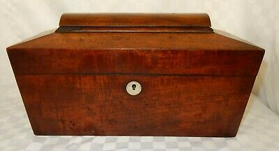 Antique Sarcophagus Shaped Mahogany Tea Caddy for repair c 971