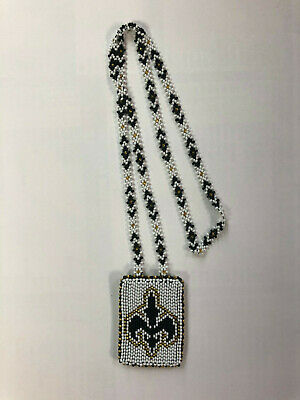 Native American NFL Saints Necklace *HAND BEADED!* STANDING ROCK SIOUX TRIBE SD