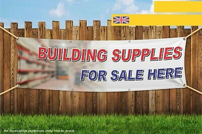 Building Supplies For Sale Here Heavy Duty PVC Banner Sign 4549