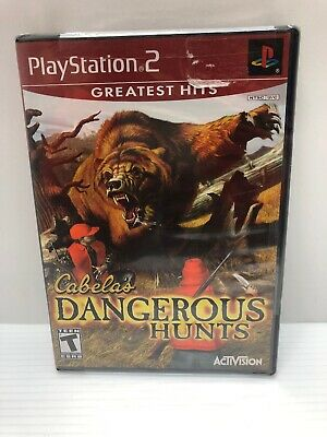 Cabela's Dangerous Hunts (PlayStation 2, 2003) Complete Greatest Hits New Sea