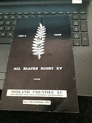 1963-Midland Counties V New Zealand-All Blacks-Tour Match-Rugby Union Programme