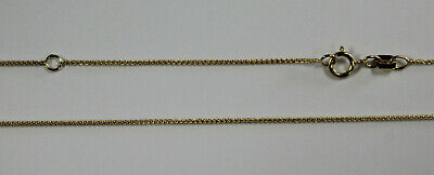 """14Kt 14K Yellow Gold .7mm Round Wheat Chain Adjustable to 16"""" or 18"""" Spring Ring"""
