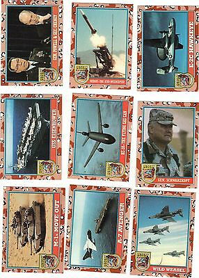 DESERT STORM -- Coalition for Peace -- Victory series -- Complete 88 cards 11 st