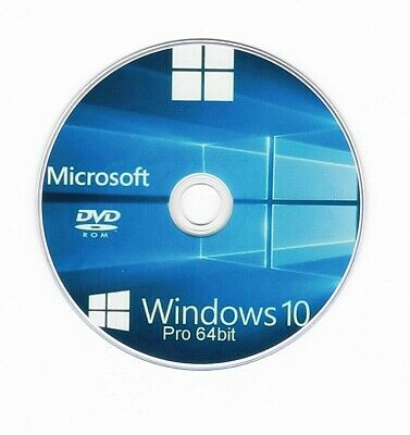 MS Windows 10 Pro Professional 64 Bit DVD Deutsch Inkl. Kostenlose DVD