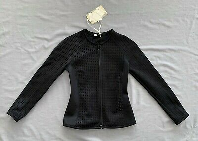 Nwt Monnalisa Chic Girls Black Zip Jacket 152 Sz 12 *See Co-Ordinating Dress