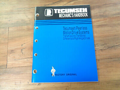 Tecumseh Engines Mechanic's Handbook Motion Drive Systems (saK)