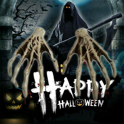 NEW Plastic Scary Skeleton Hand Haunted House Props for Halloween Decoration