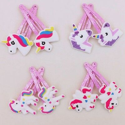 10 Pcs/Set Unicorn Cartoon Hairpins Hair Clips For Kids Baby Girls Newborn usefu
