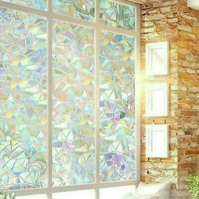 200cm Window Film Stained Glass Pattern Window Clings Privacy Office Home