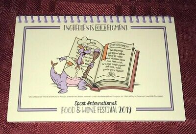 Disney Epcot Food & Wine Festival 2019 INGREDIENTS FOR A FIGMENT Recipe Card NEW