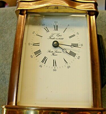 Vintage French L'epee 8 Day Doucine Serpentine Timepiece Carriage Clock Working