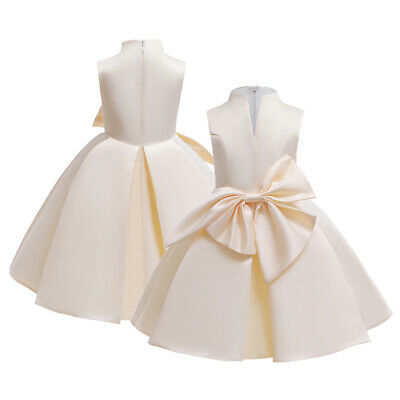 Toddler Flower Girl Princess Dress Pageant Wedding Party Bow Formal Gown Dresses