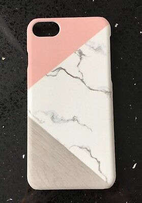 Marble Rose Pink Geometric Print Case For iPhone 7 Or 8. Hard Plastic. Xmas