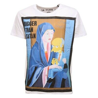 C3288 maglia uomo MY T-SHIRT nero//blu without label vintage used effect t-shirt