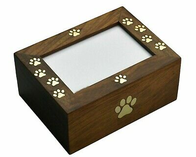 Rosewood Photo Box Pet Urns for Dogs Ashes, Cremation Urn, 8 x 6 x 3.5″ –50Cu/In