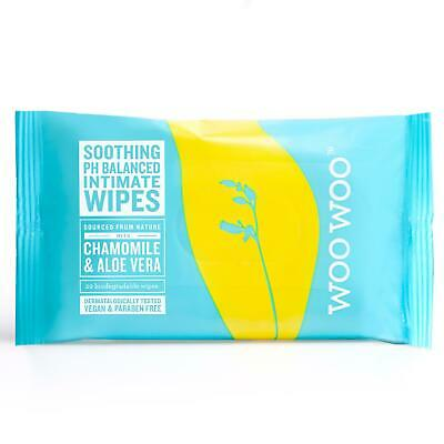 Woo Woo Soothe It! 20 x Chamomile & Aloa Vera Intimate Biodegradeable Wipes
