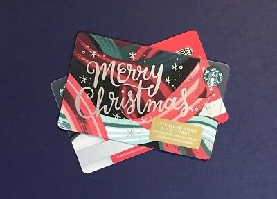 2018 Winter Holiday 'Merry Christmas' Starbucks Gift Card