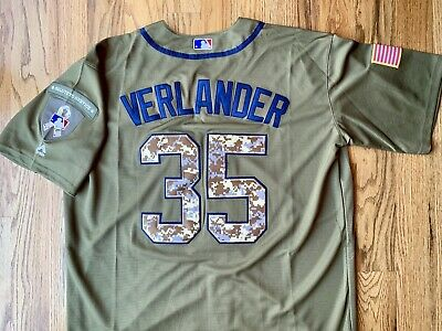 pretty nice 0453f 719f5 JUSTIN VERLANDER JERSEY XL Salute To Service #35 Men Green Houston Astros  New