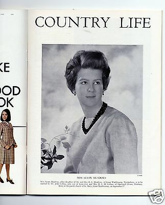 1966 COUNTRY LIFE Magazine SUSAN MEADOWS COLLINS Manor Sandford Orcas (0063)