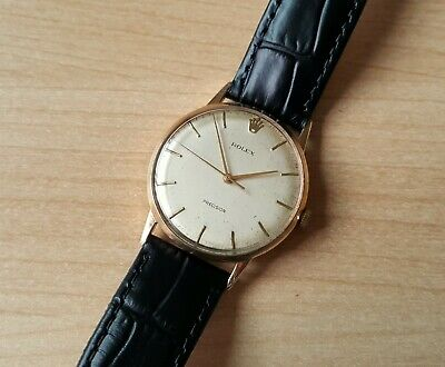 Gent's Vintage .375 9ct Gold Manual Winding Rolex Precision Wrist Watch