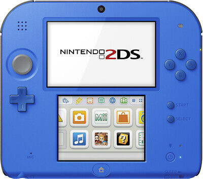Nintendo 2DS Handheld Gaming Console - Electric Blue + Charger + Stylus - UD