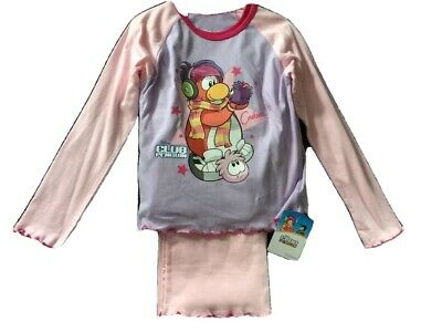 Girls Pyjamas Club Penguin Aged 5-6 Years BNWT