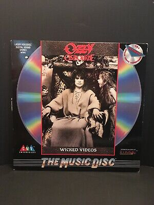 "Ozzy Osbourne ""No Rest For The Wicked"" Laserdisc Original 1988 US Pressing CA"
