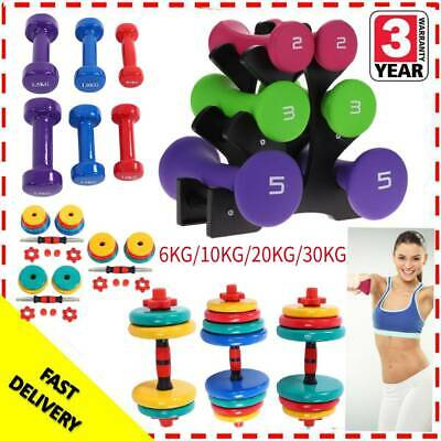 6/10/20/30kg Hand Dumbbell Set With Stand Free Weights Weight Training Exercise